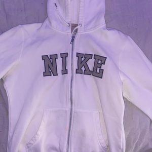 White nike zip up hoodie